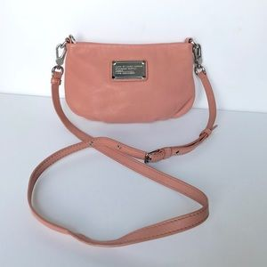 Marc by Marc Jacobs coral leather crossbody bag!